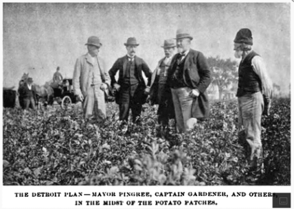 Hazen Pingree potato photo vintage community garden